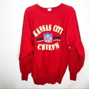 """Sold""  Vintage Kansas City Chiefs 1994 sweatshirt"